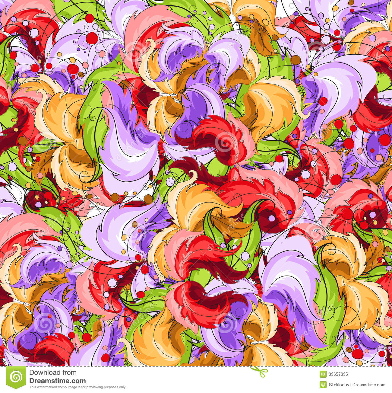 Multi-colored flowers stock vector. Illustration of image ...