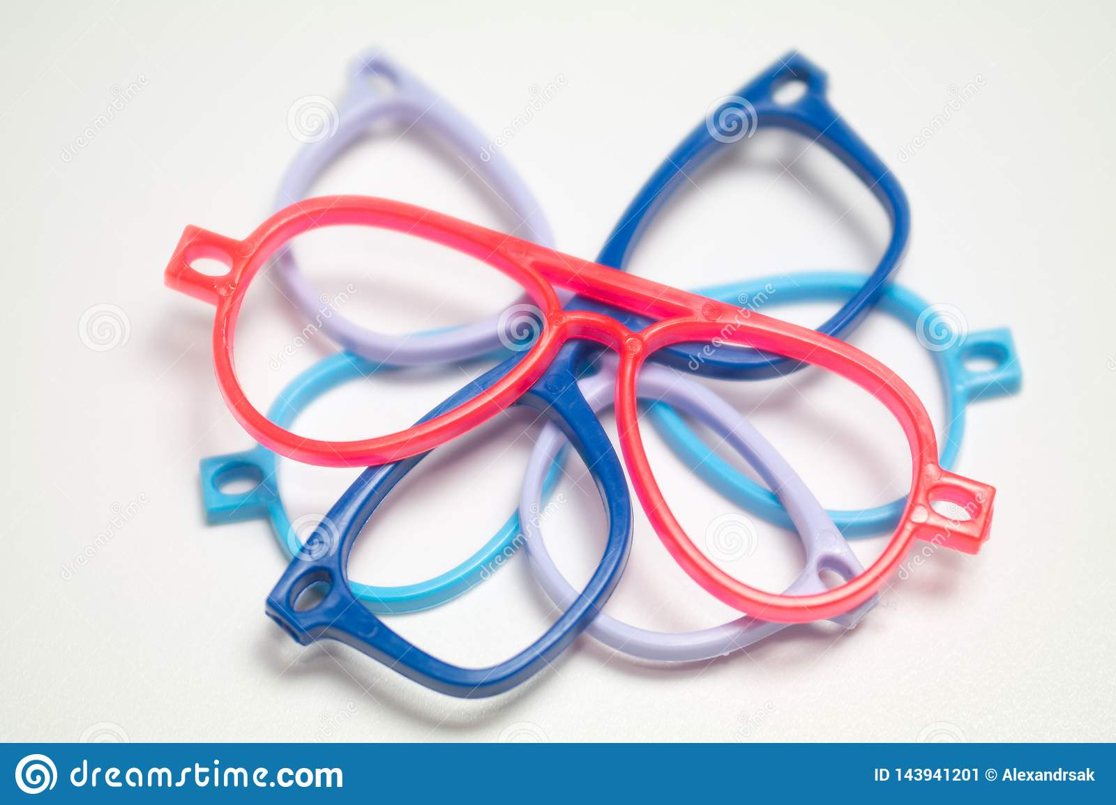 Multi-colored glasses and frames