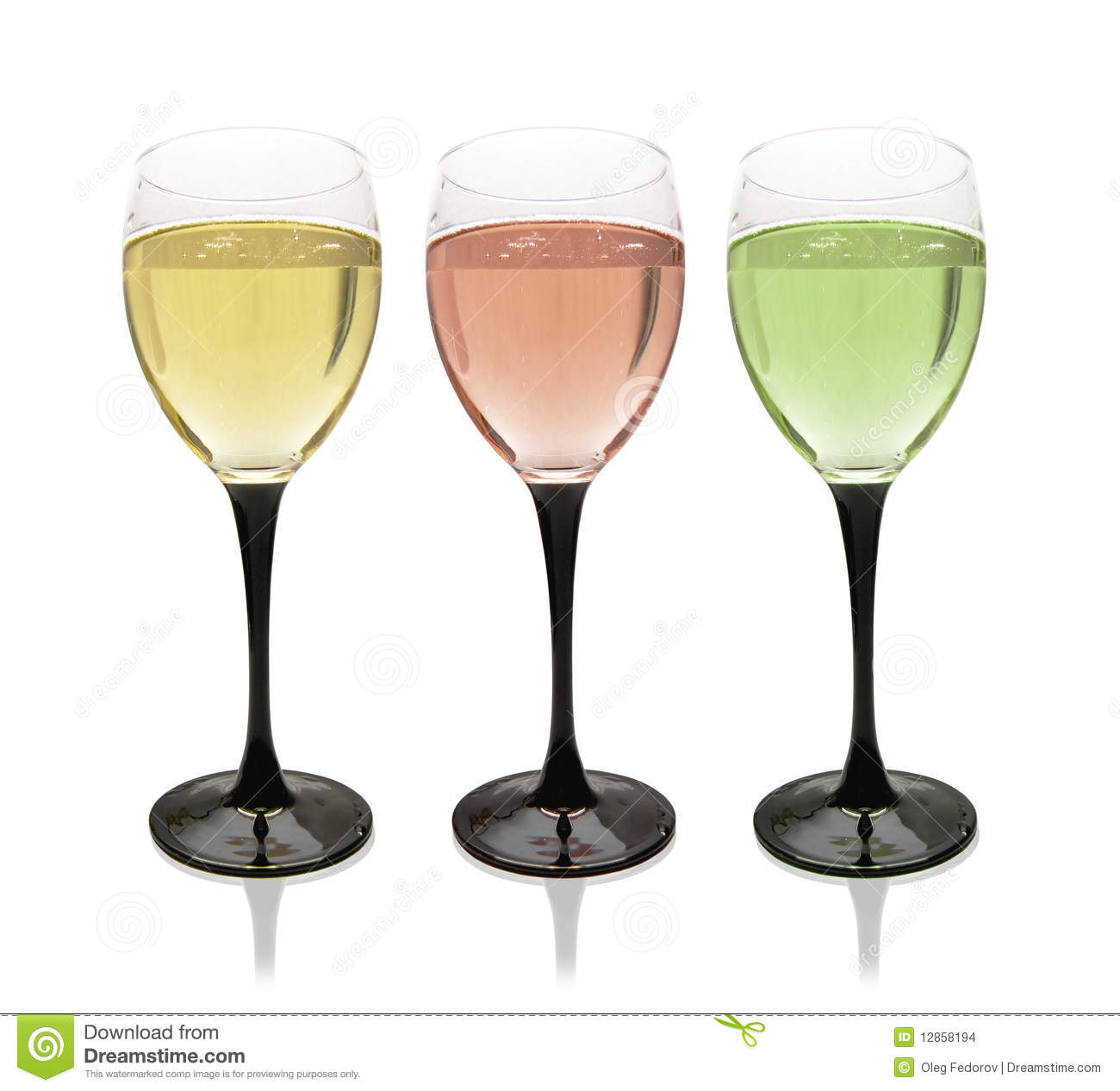 Multi Colored Glasses Of Wine Stock Images Image 12858194
