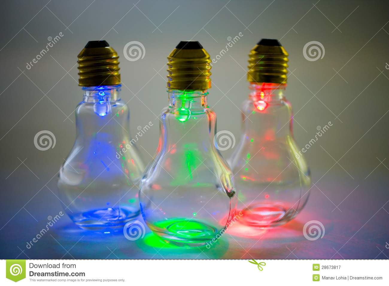 Multi Colored Light Bulbs Royalty Free Stock Photography Image 28673817