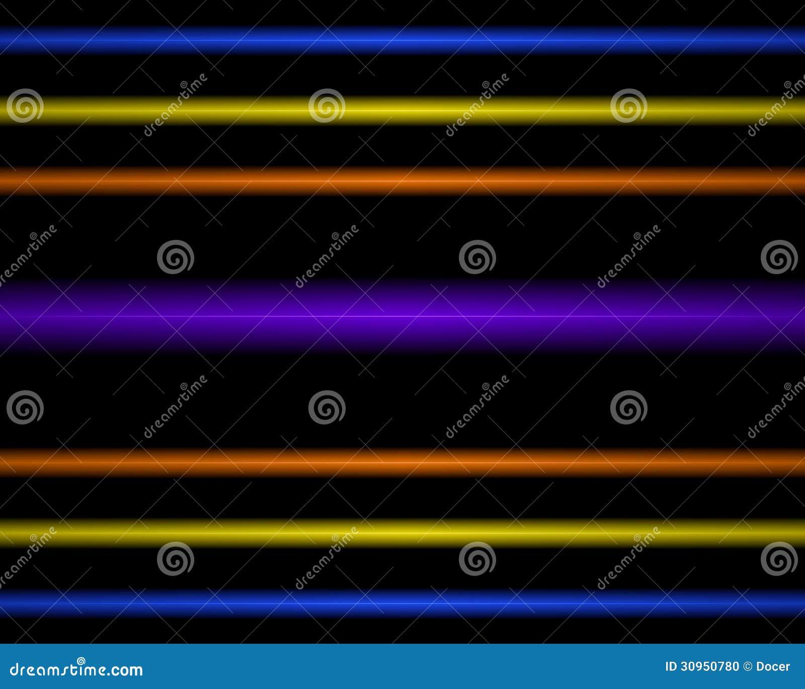 Stock Photo: Multi Colored neon light lamp. straight horizontal lines