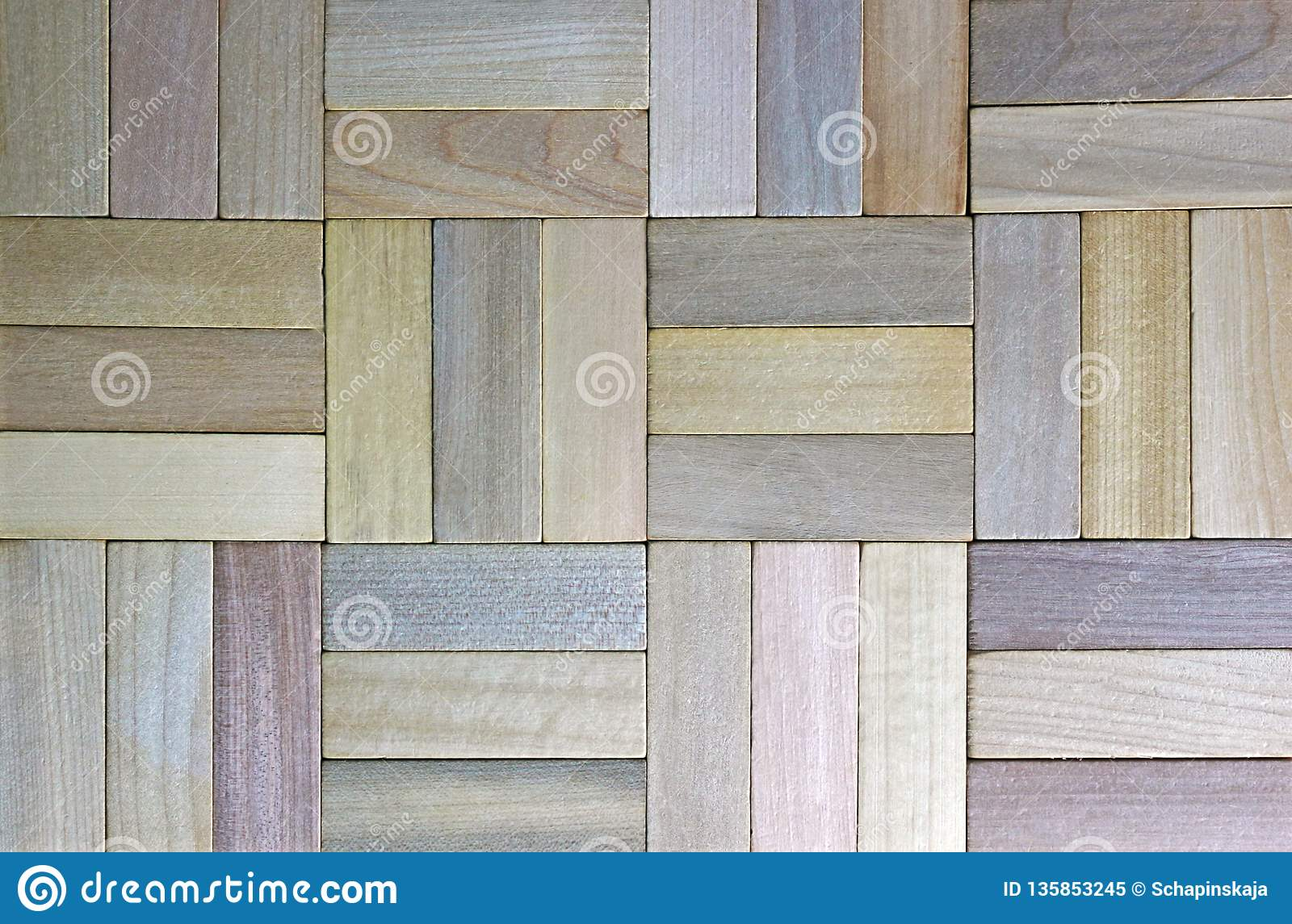 Multi Colored Parquet Floor High Angle Wiew Stock Image