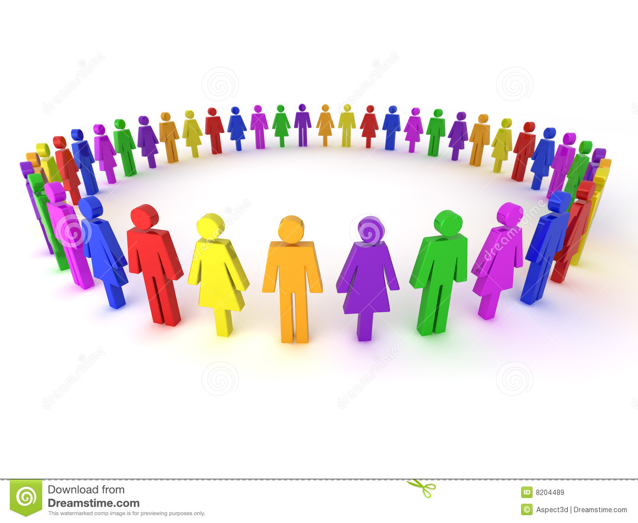 multi colored people illustration royalty free stock