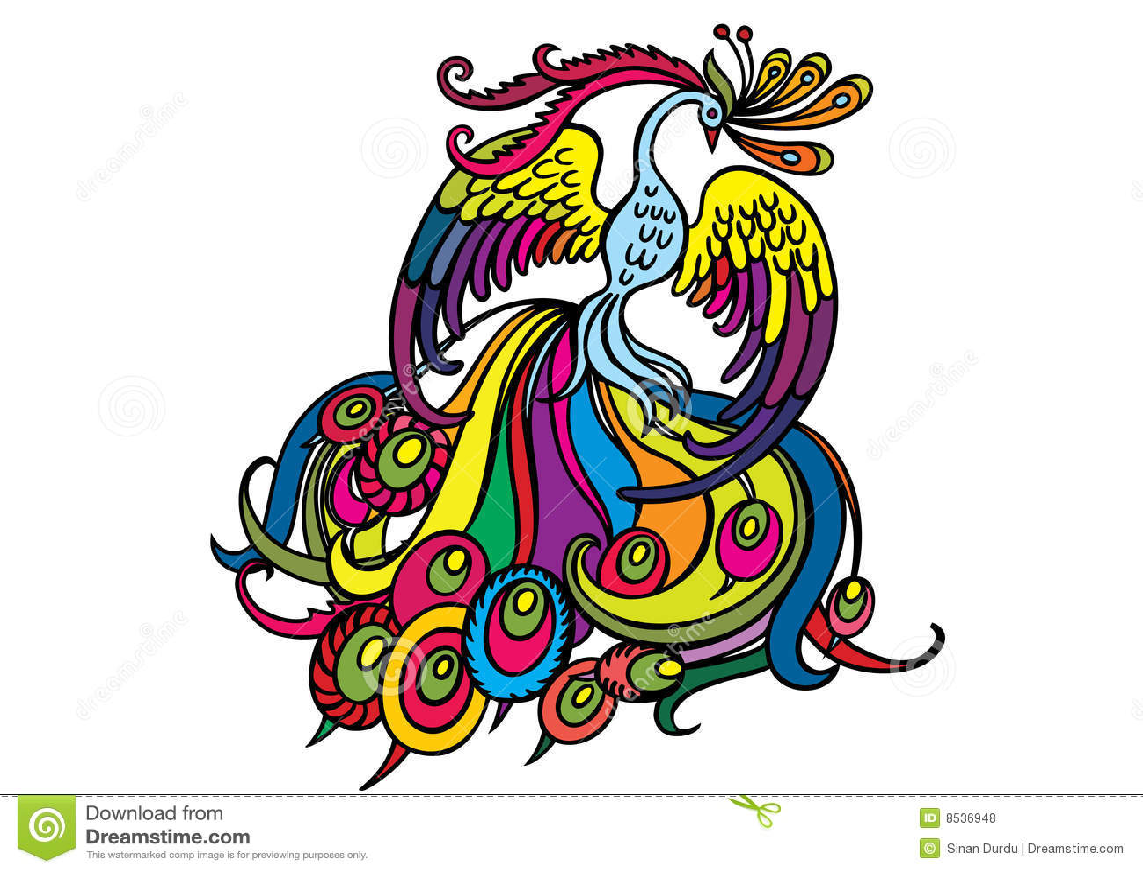 Multi Colored Phoenix Royalty Free Stock Photos Image