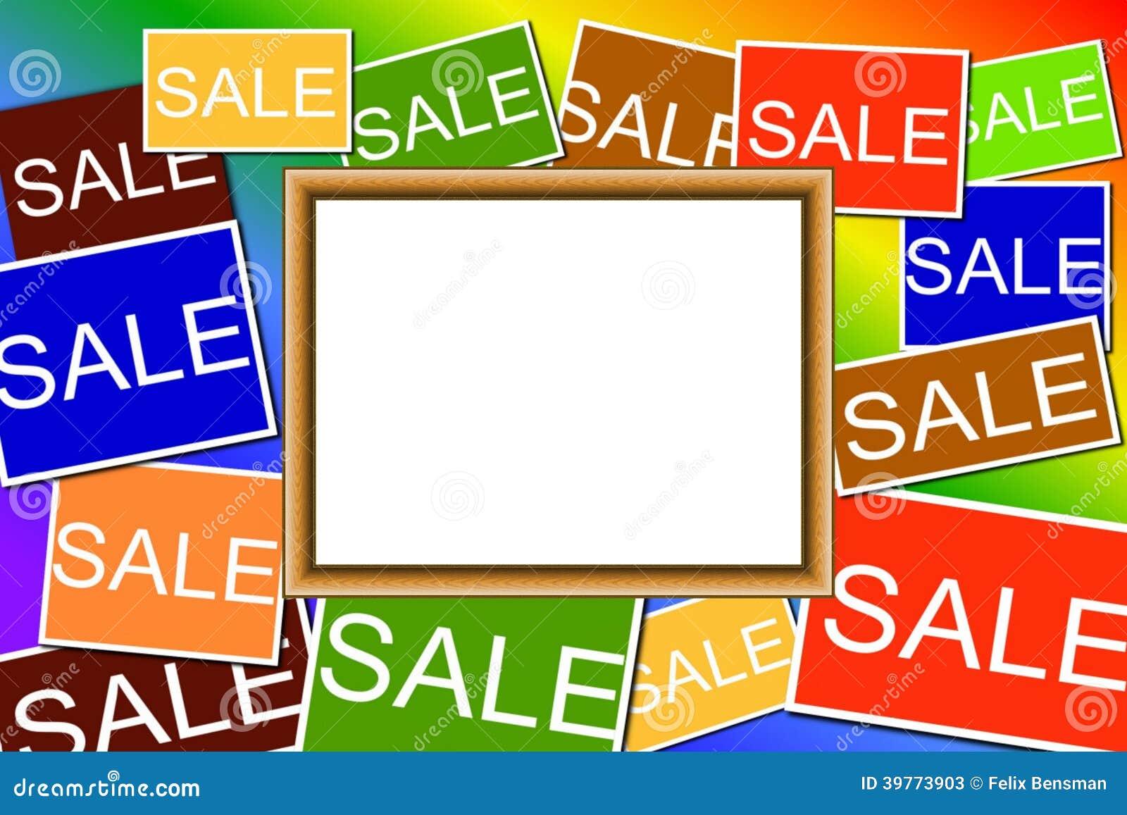 Multi colored Sale signs