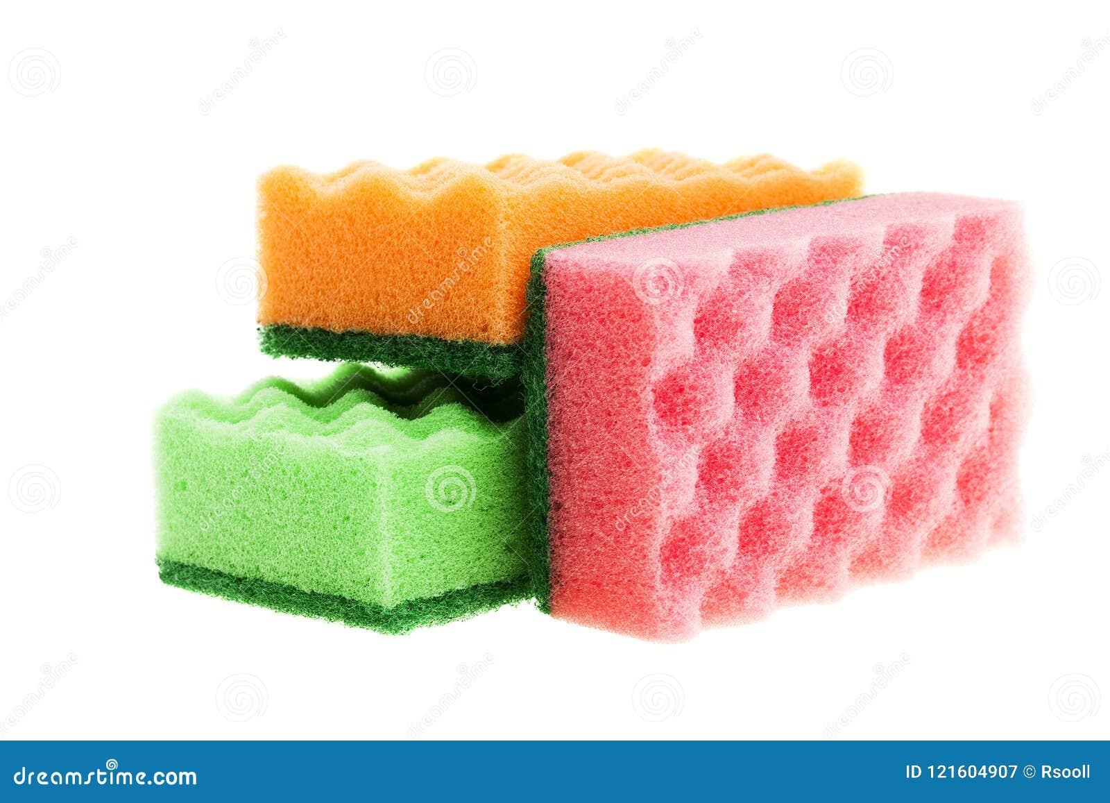Multi-colored sponges
