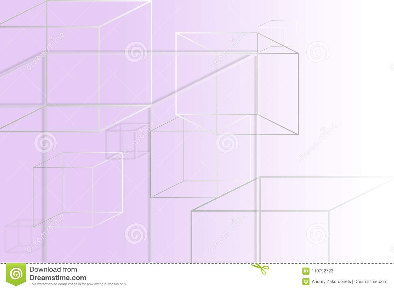 Multi-colored square figures on a purple background with a place under the text