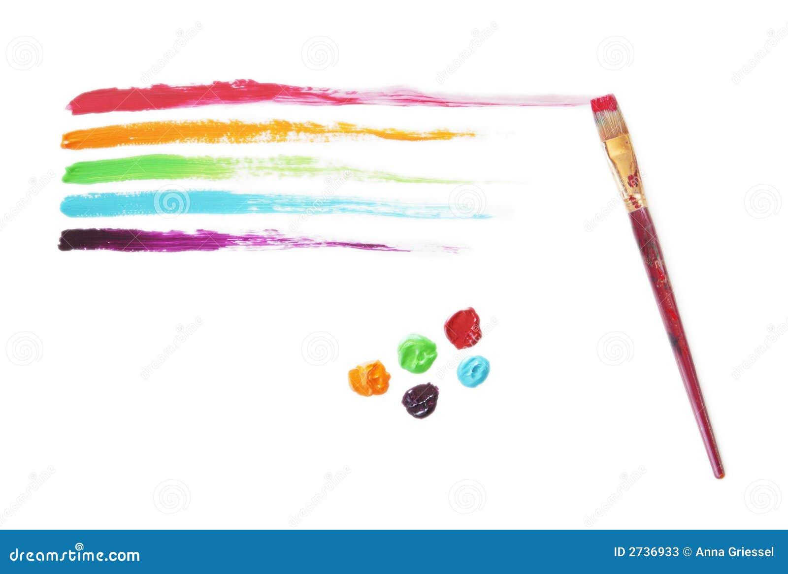 Multi Colored Strepen Van De Verf Stock Foto u0026#39;s   Afbeelding  2736933
