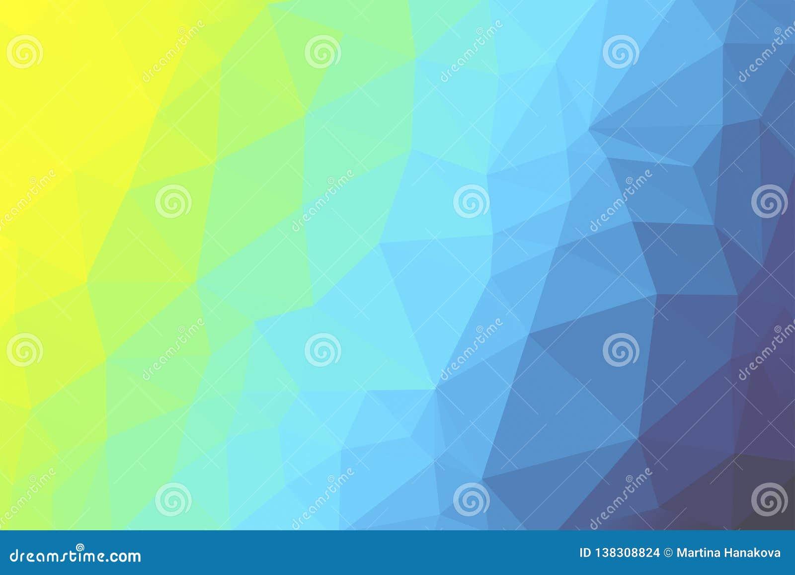 Multi colored triangle background - illustration