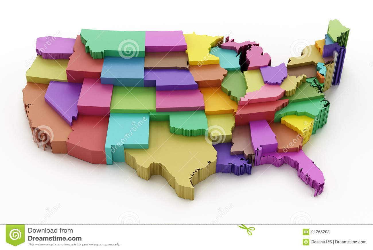 Multi Colored USA Map Showing State Borders. 3D Illustration ... on detailed map of usa, sky map of usa, fun map of usa, black and white map of usa, golden map of usa, hand drawn map of usa, functional map of usa, food map of usa, illustration map of usa, formal map of usa, colorful rainbow fish, sunrise map of usa, water map of usa, contemporary map of usa, small map of usa, travel map of usa, active map of usa, beach map of usa, decorative map of usa, original map of usa,