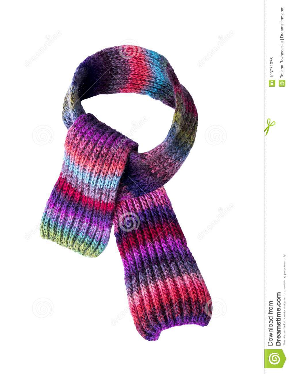 8e270646c Multi-colored Winter Scarf. Stock Photo - Image of color, elegance ...