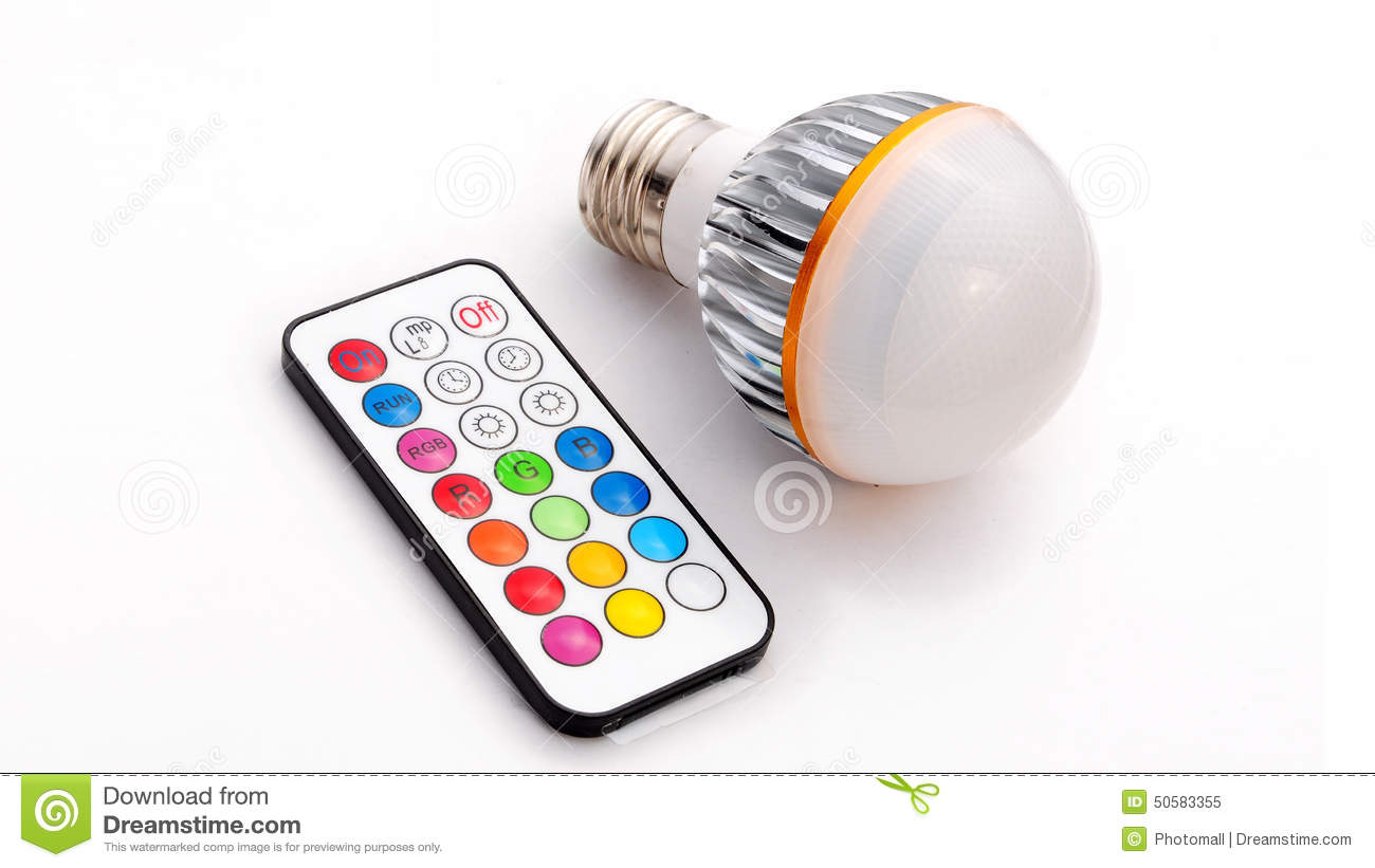 Led Light Bulbs With Remote: Multi colour LED light bulb and remote control,Lighting