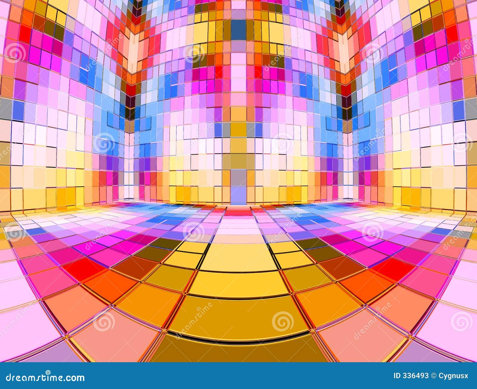 Multi Colour Mosaic Room