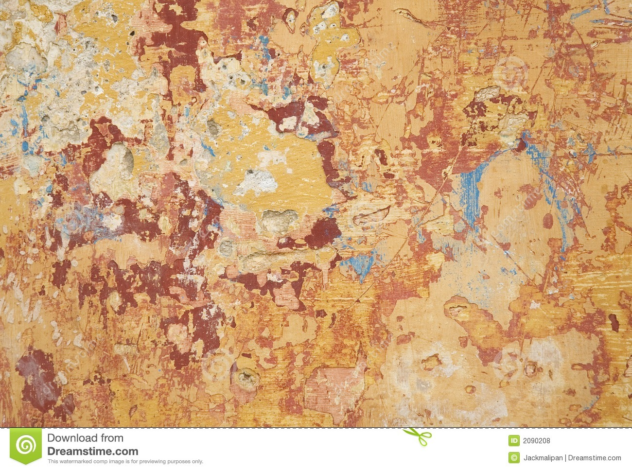 Multi Colour And Texture Paint On Wall Stock Photo Image of hues