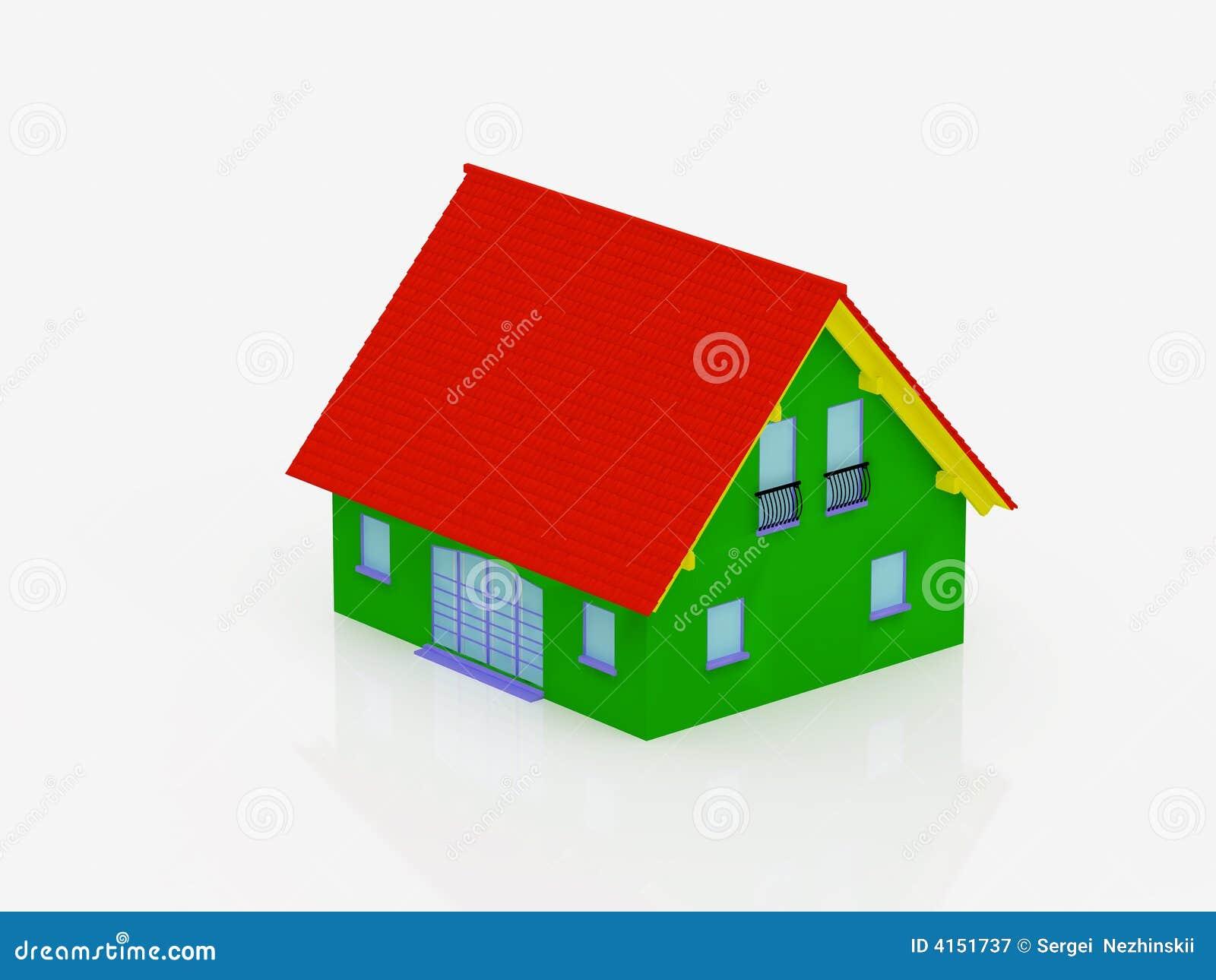 Multi-coloured huis