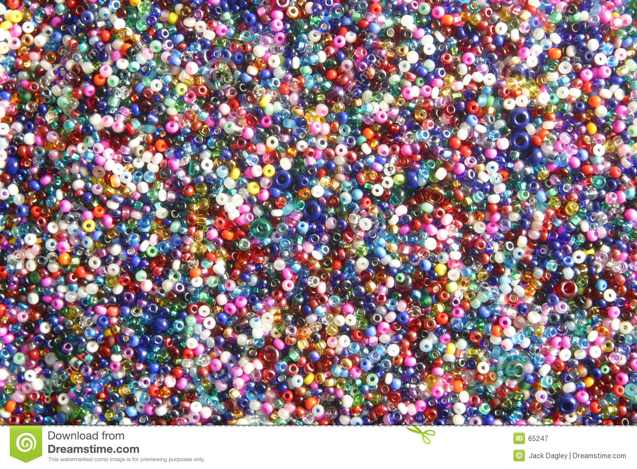 Multi Coloured Seed Beads Stock Image Image Of Colors
