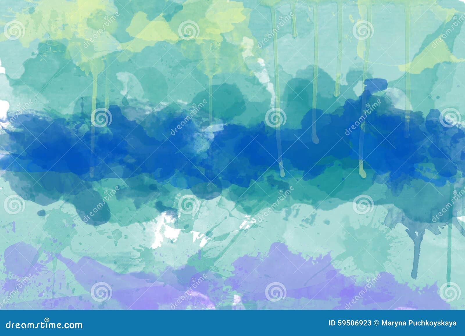 Multi-coloured spot, watercolour abstract