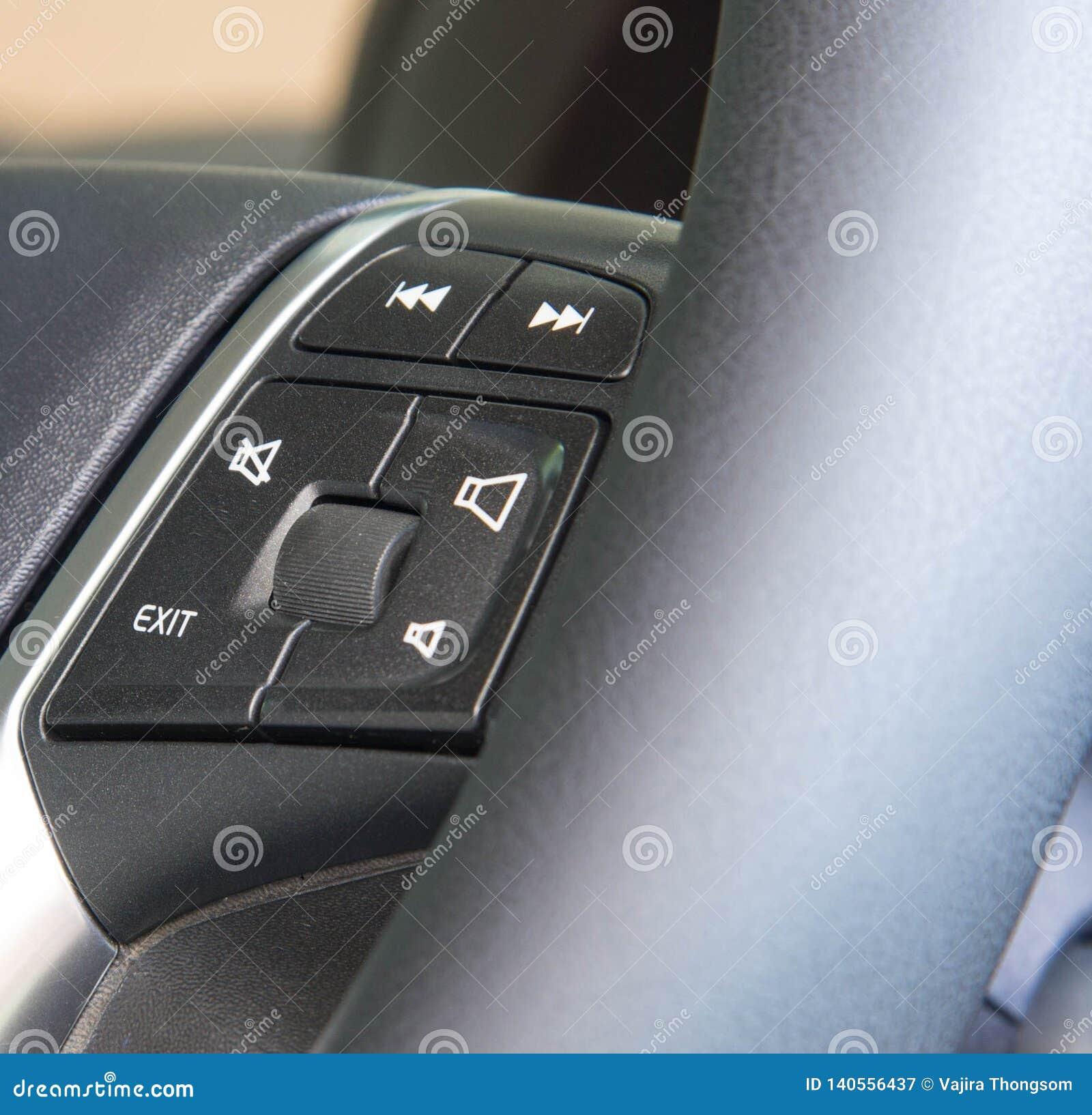 Multi de functieknopen van het autostuurwiel