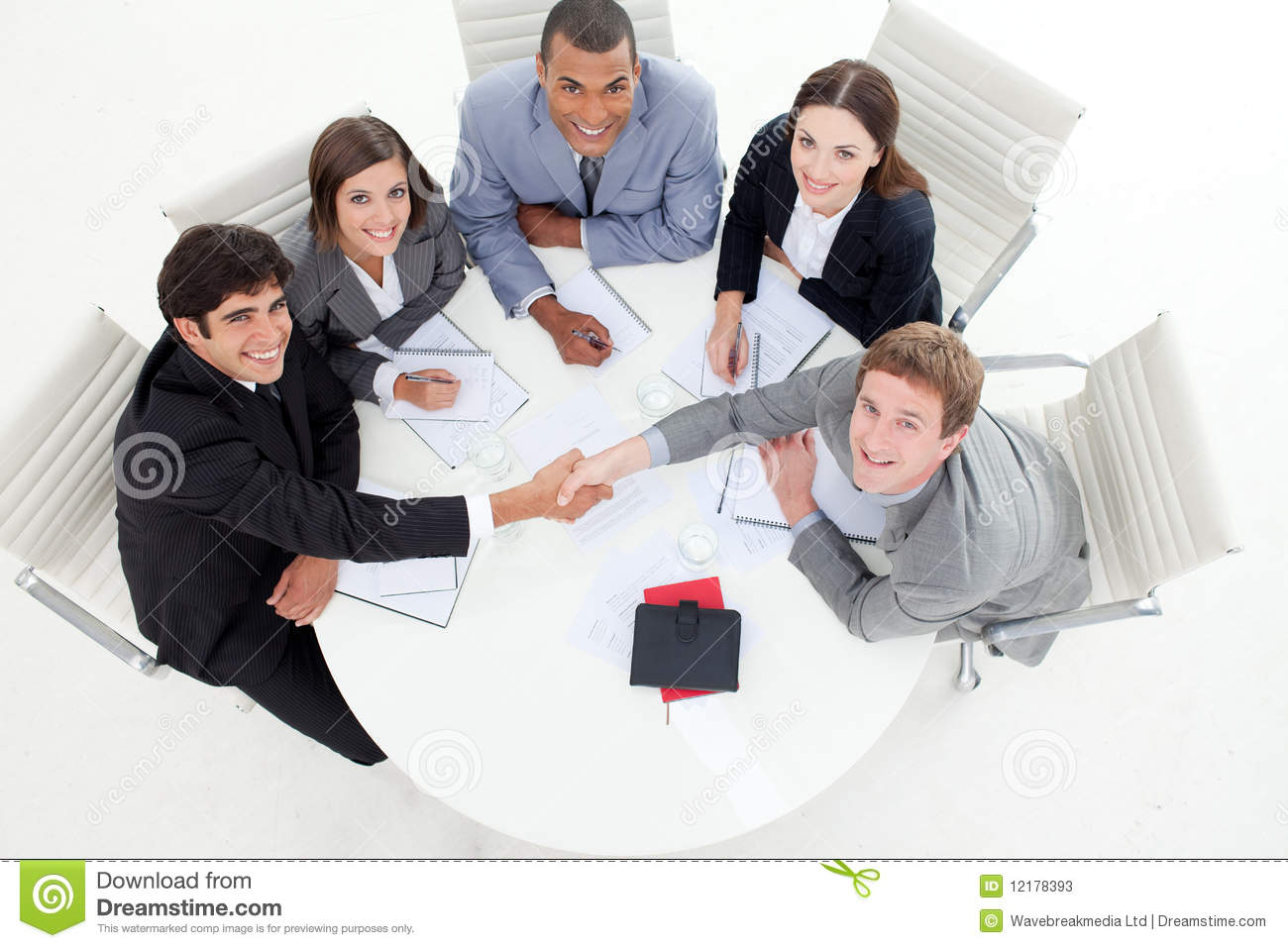 Multi Ethnic Business People Greeting Each Other Stock Image Image