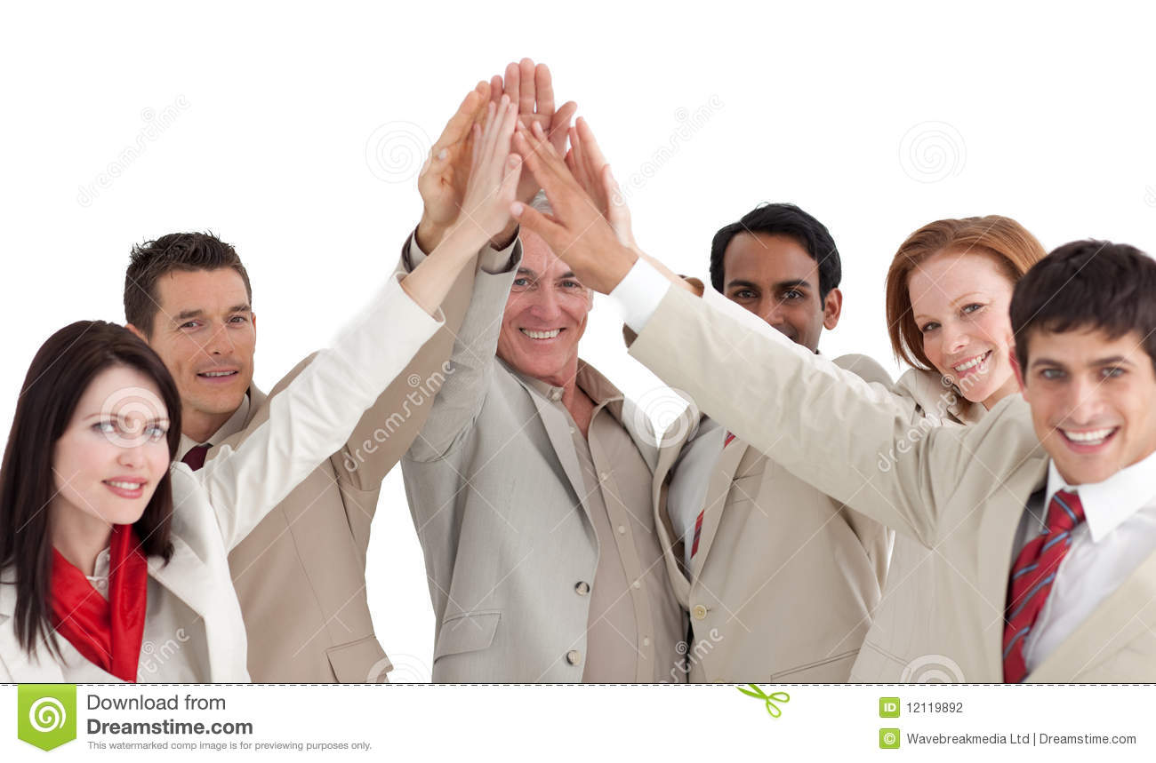 Multi-ethnic Business People Showing Positivety Stock ...