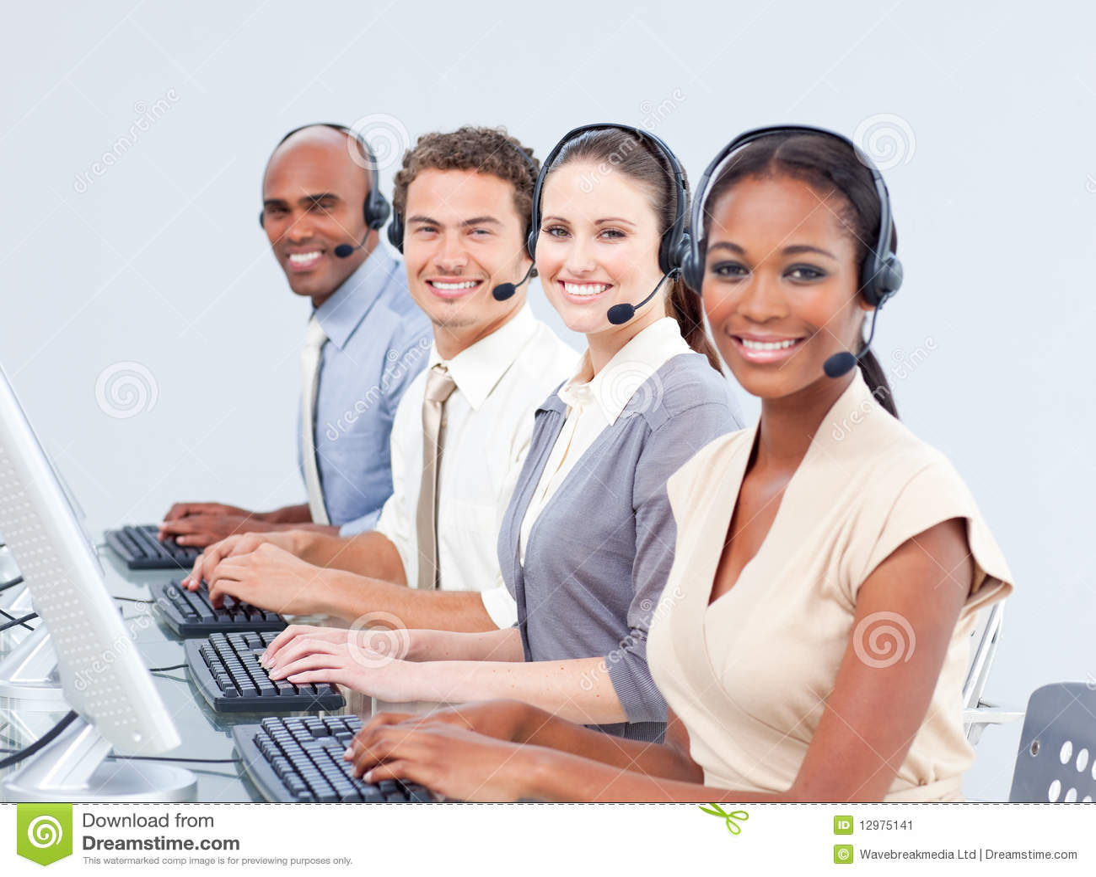 Multi-ethnic Customer Service Representatives Stock Image