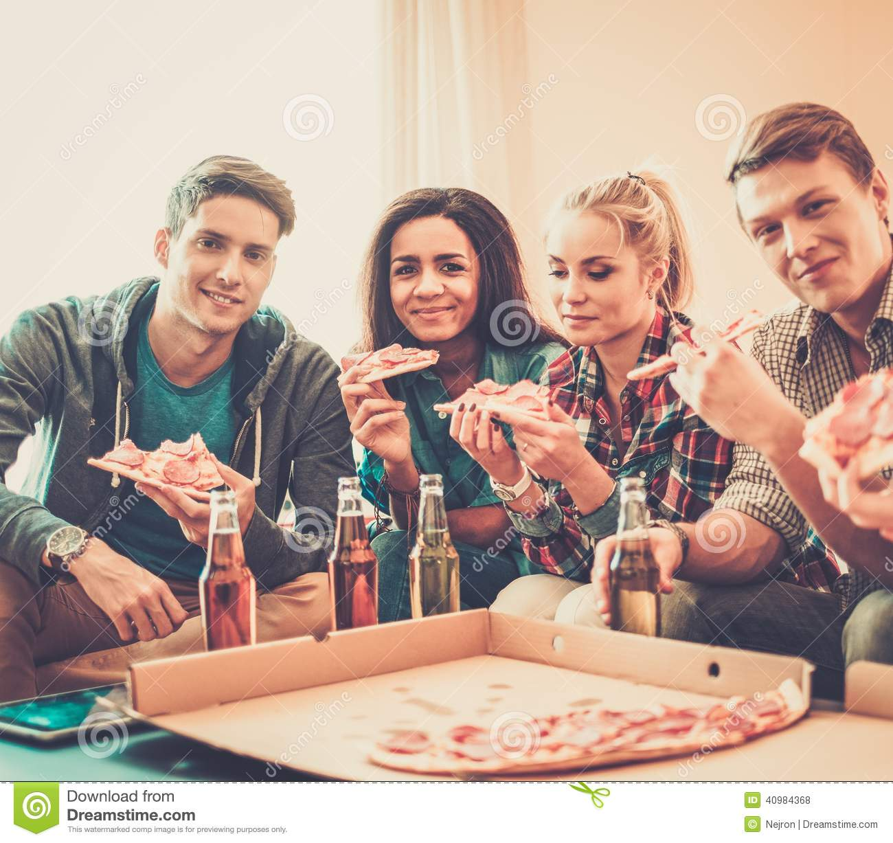 Celebrating Home Home Interiors   Multi Ethnic Friends Having Party Stock  Photo Image 40984368