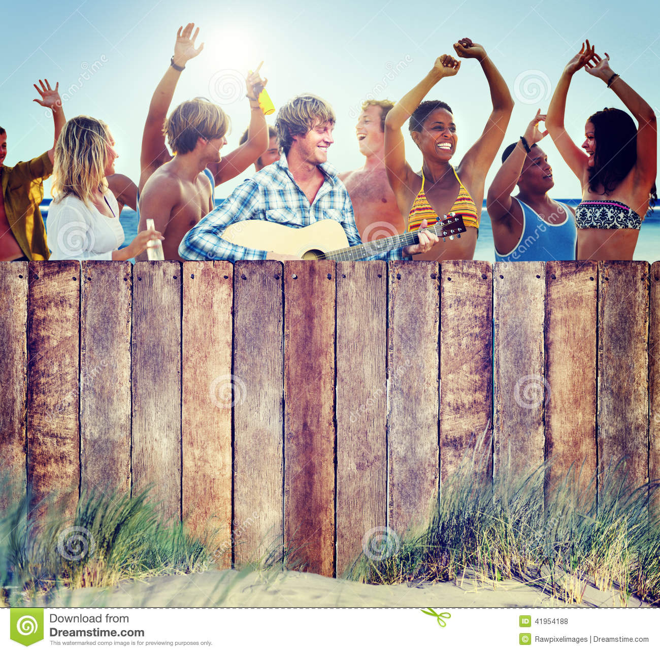 Multi-Ethnic Group of People Partying Outdoors