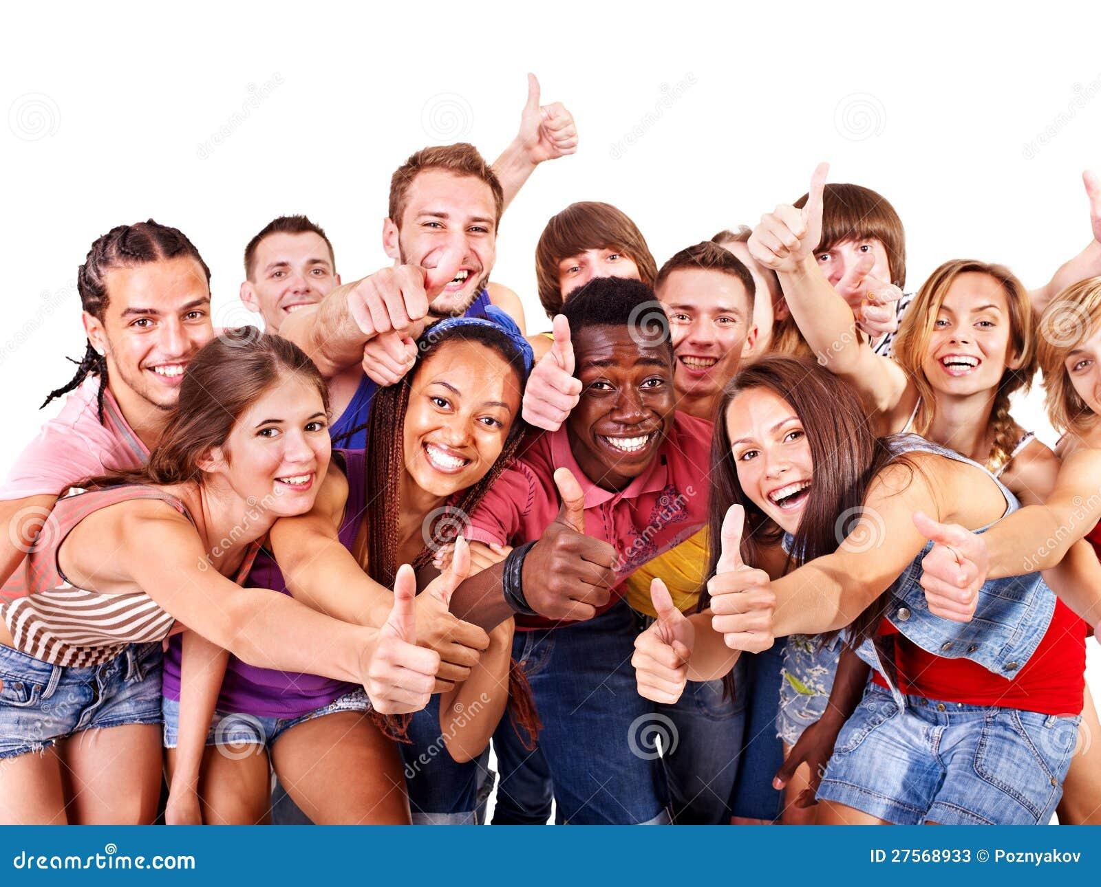 Multi-ethnic gruppfolk.