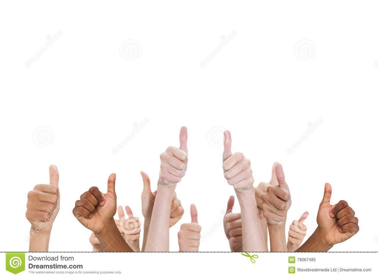 Download Multi-ethnic Hands Thump Up Stock Image - Image of hands, sheet: 78067485