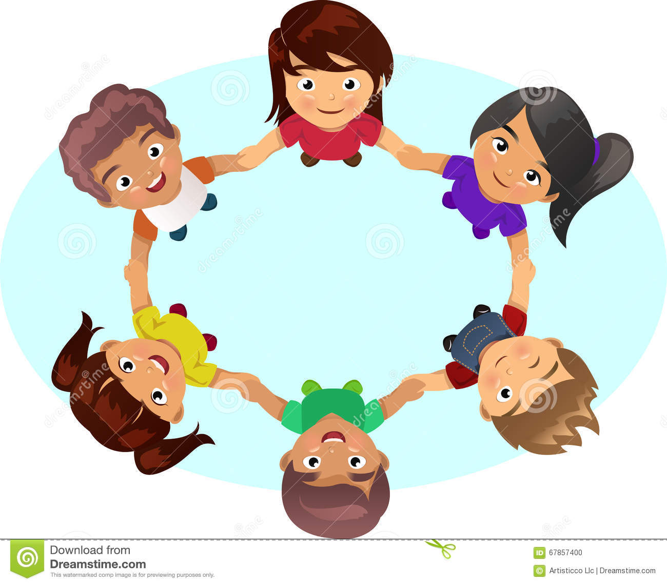 multi ethnic kids holding hands stock vector image 67857400 Holding Hands Drawing Holding Hands Cartoon