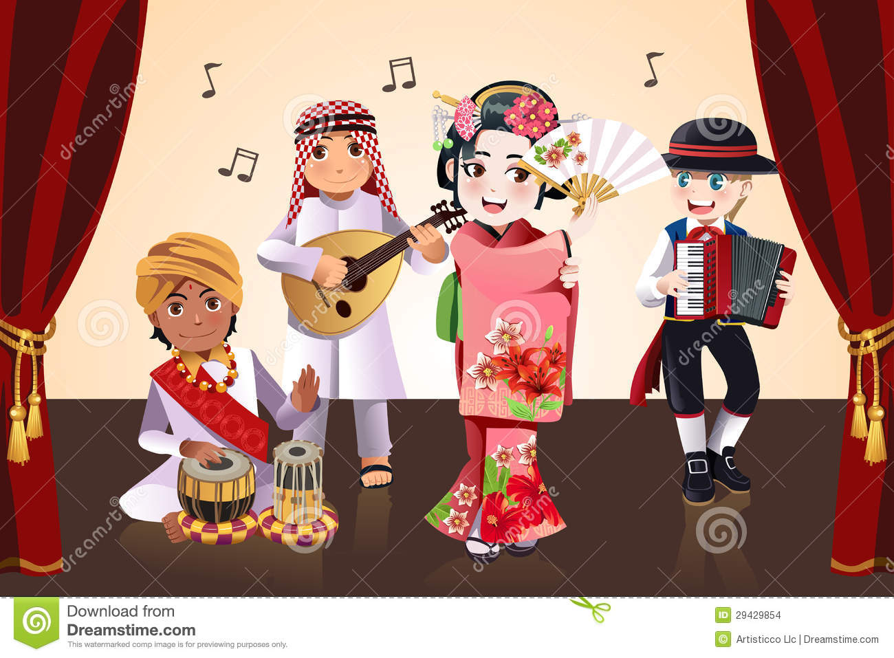 Multi-ethnic Kids Performing Stock Images - Image: 29429854