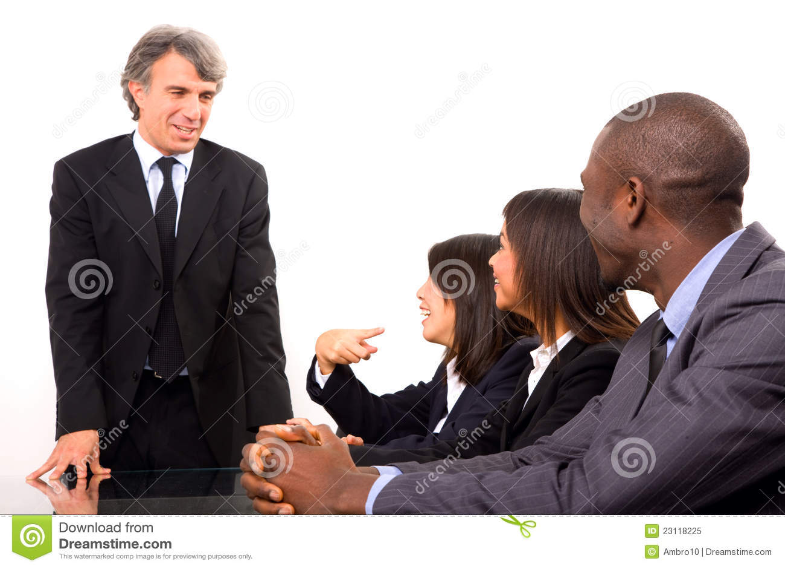 Multi-ethnic lag under ett möte
