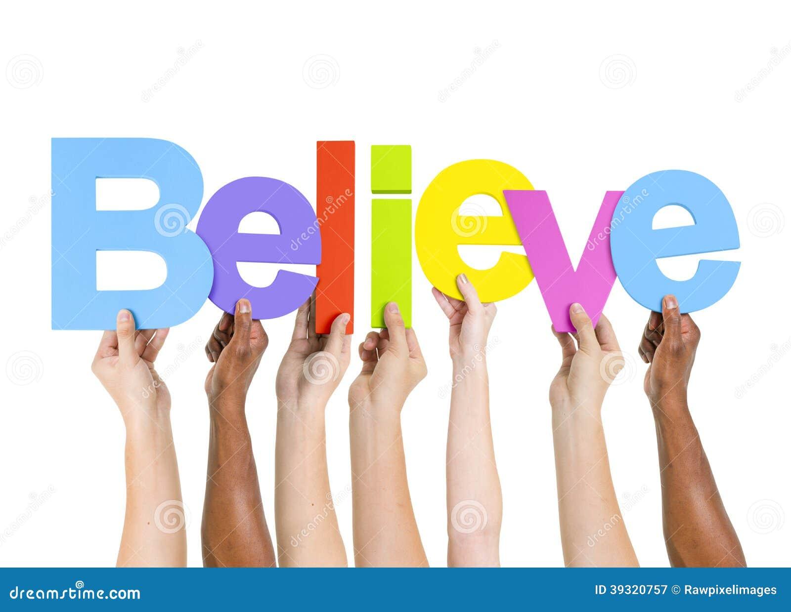 word believe holding ethnic multi