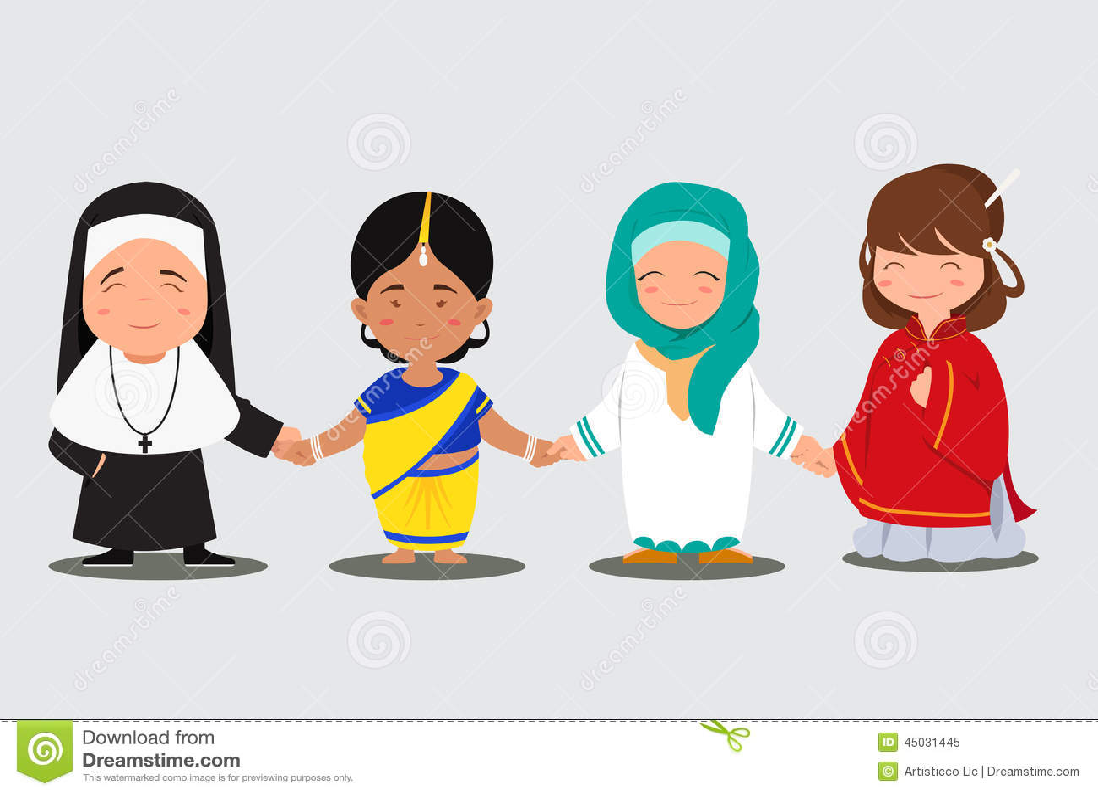 multi ethnic people stock vector   image 45031445