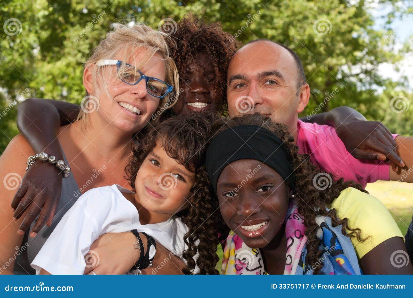 Multi etnic Familie
