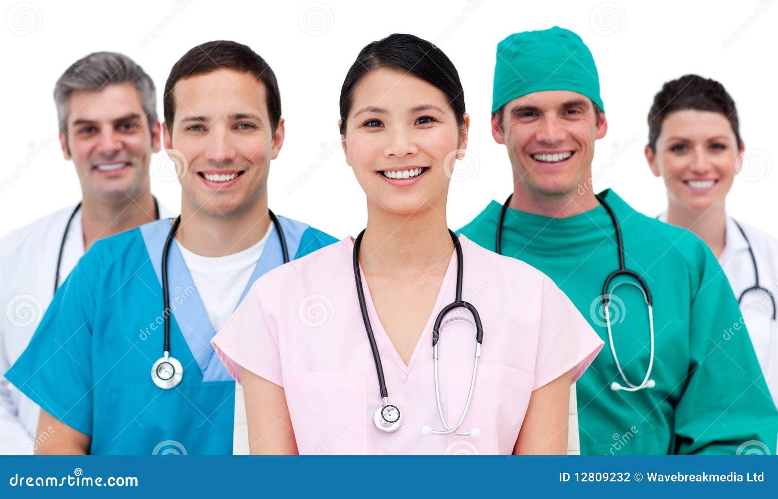 Multi-etnic medical team
