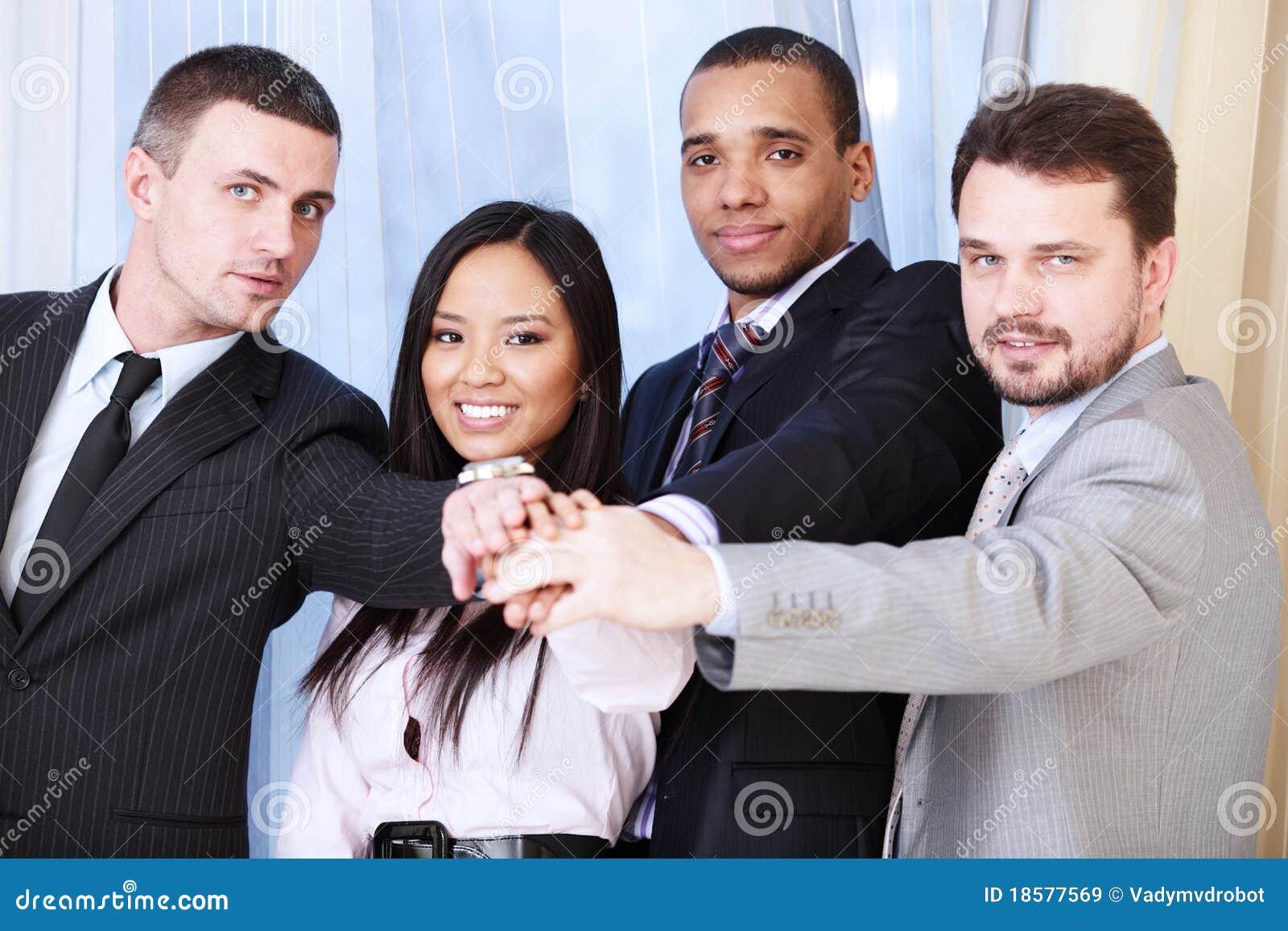 Multi etnisch commercieel team