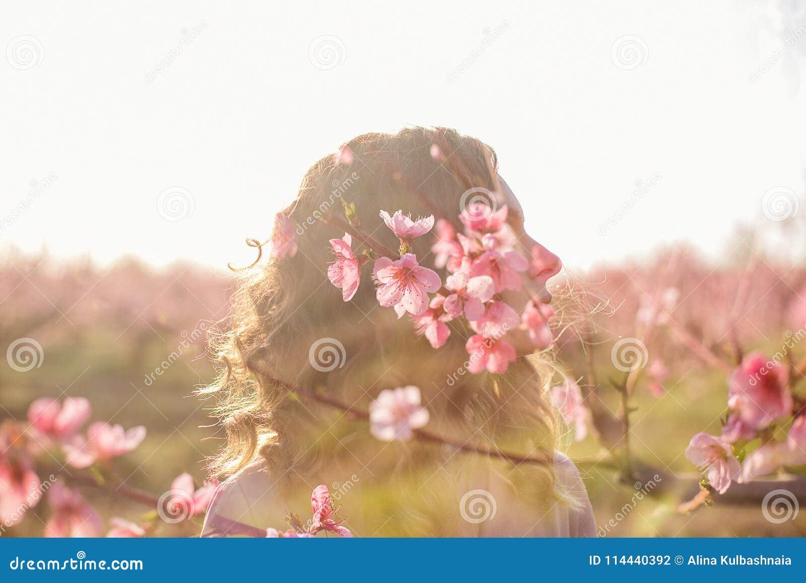 Multi-exposure flower girl.
