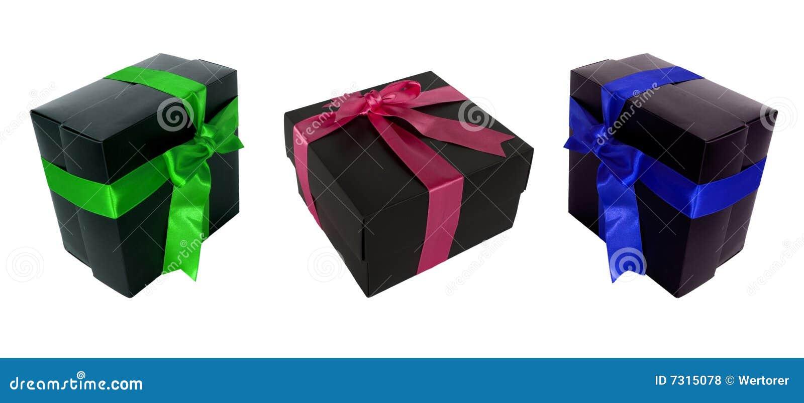 Multi Farbe und multi Winkelgeschenkkästen für designe