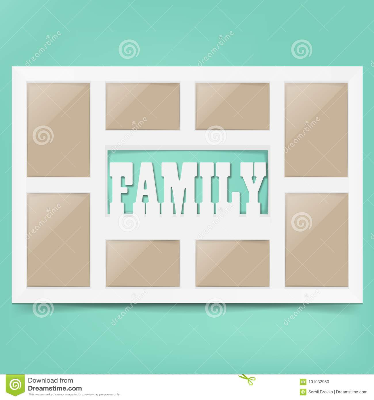 Multi Frame Set With Empty Space. Family Photo Frame. Photo Frame ...