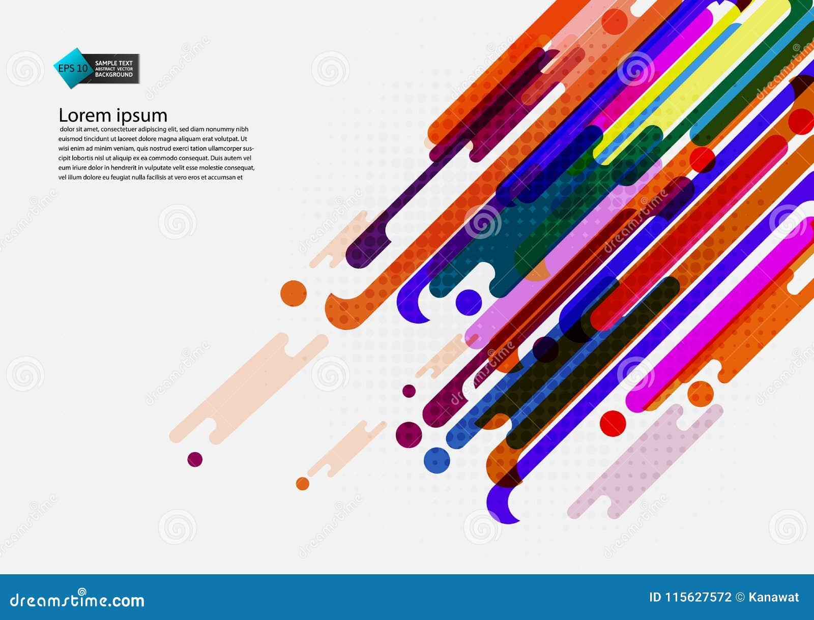 Multi fundo abstrato geométrico colorido com projeto moderno do espaço da cópia, ilustração do vetor