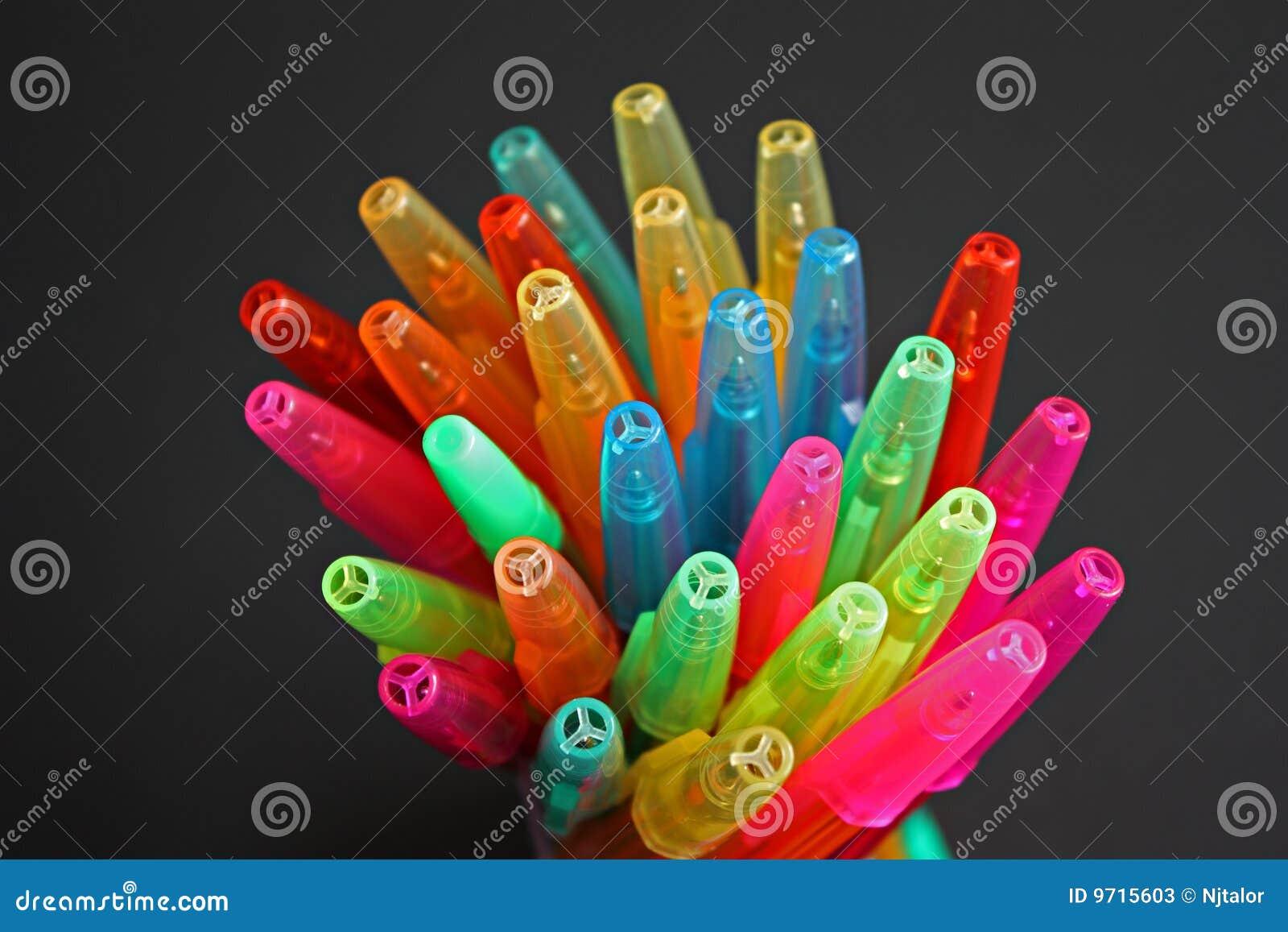 Multi gekleurde plastic biro
