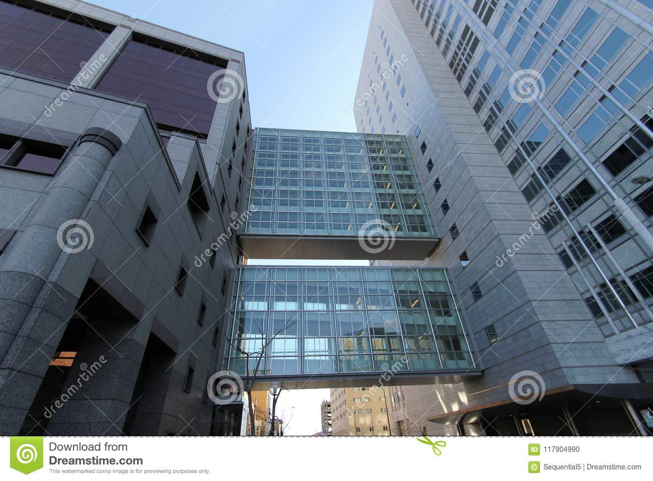 Multi-layered Skyways At The Mayo Clinic Editorial Image - Image of