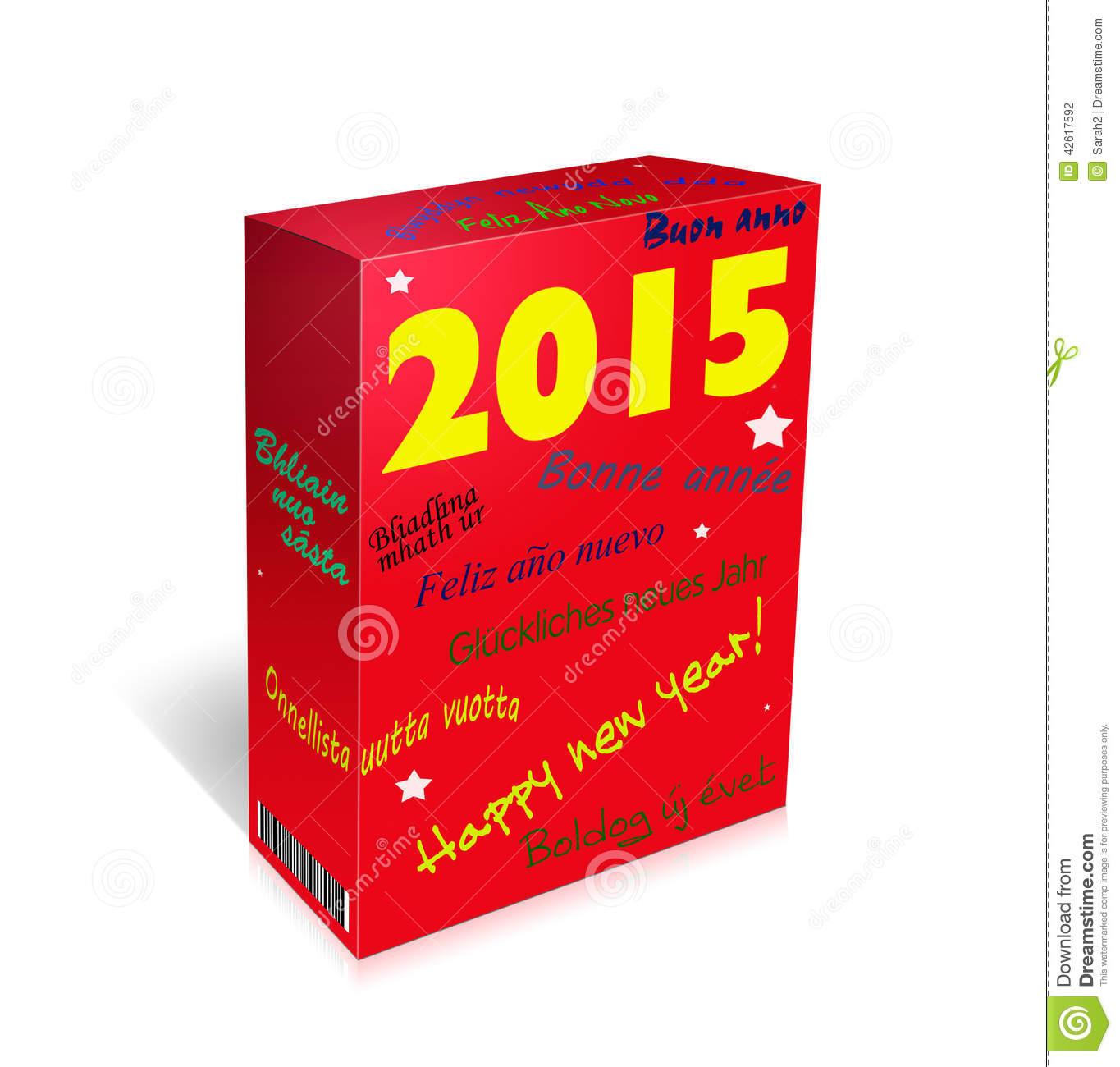 multi lingual happy new year greetings box french spanish w