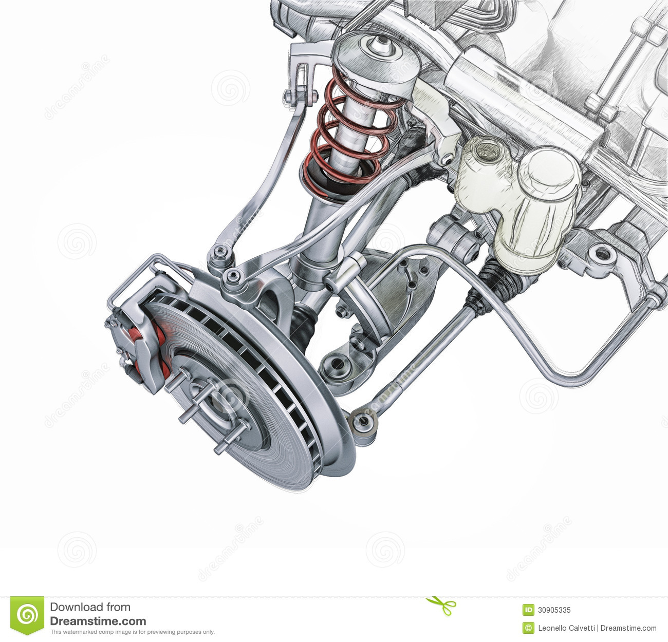 46 Best Images About Truck Suspension On Pinterest: Multi Link Front Car Suspension, With Brake. Stock