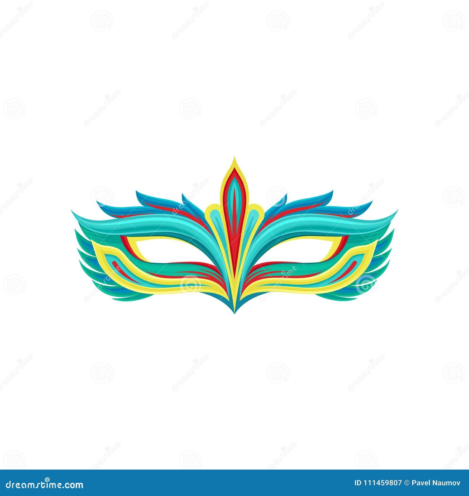 Multi maschera colorata di festival nello stile piano Attributo del costume di travestimento Elemento decorativo per il partito d