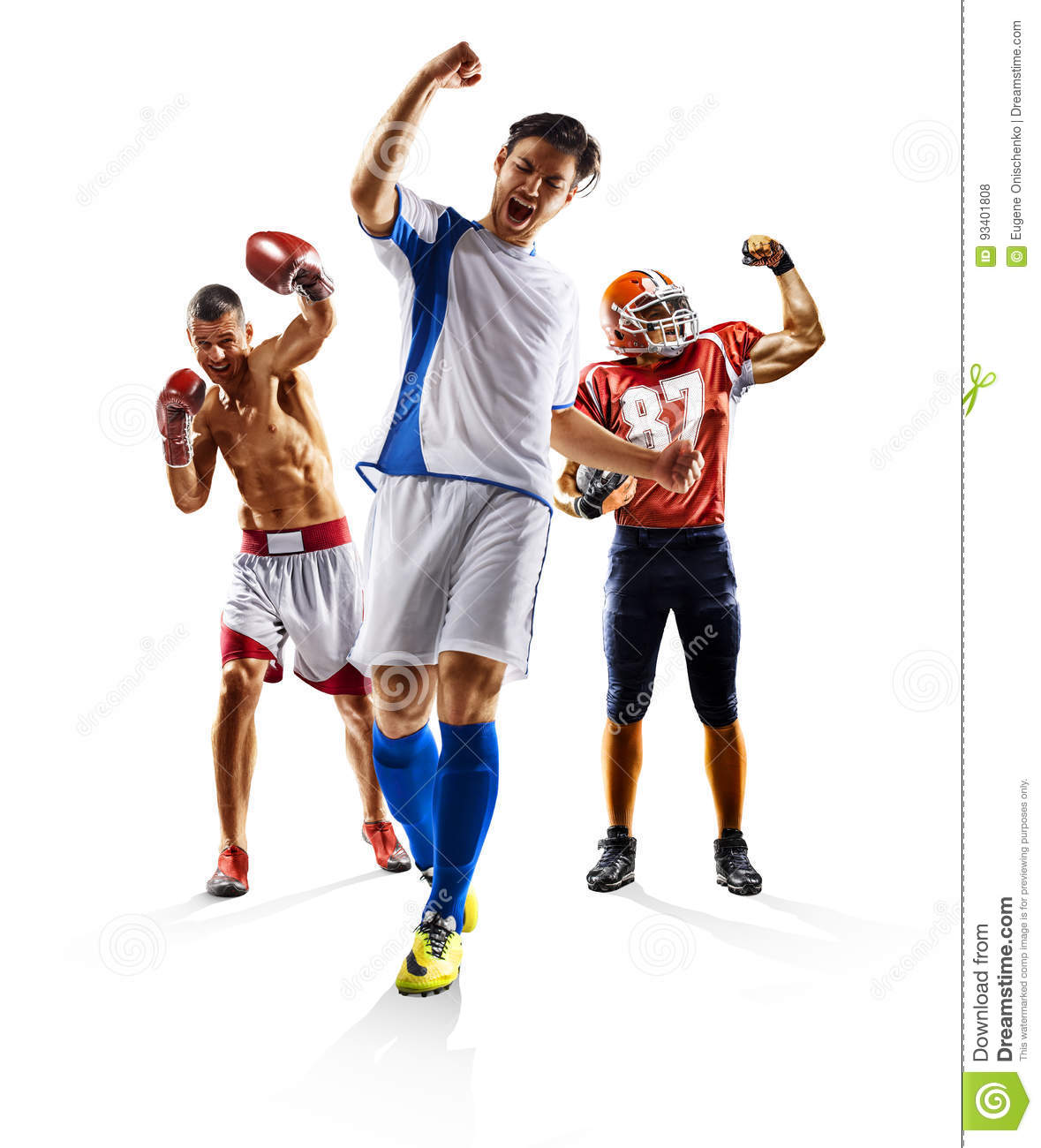 Multi pugilato di football americano di calcio del collage di sport