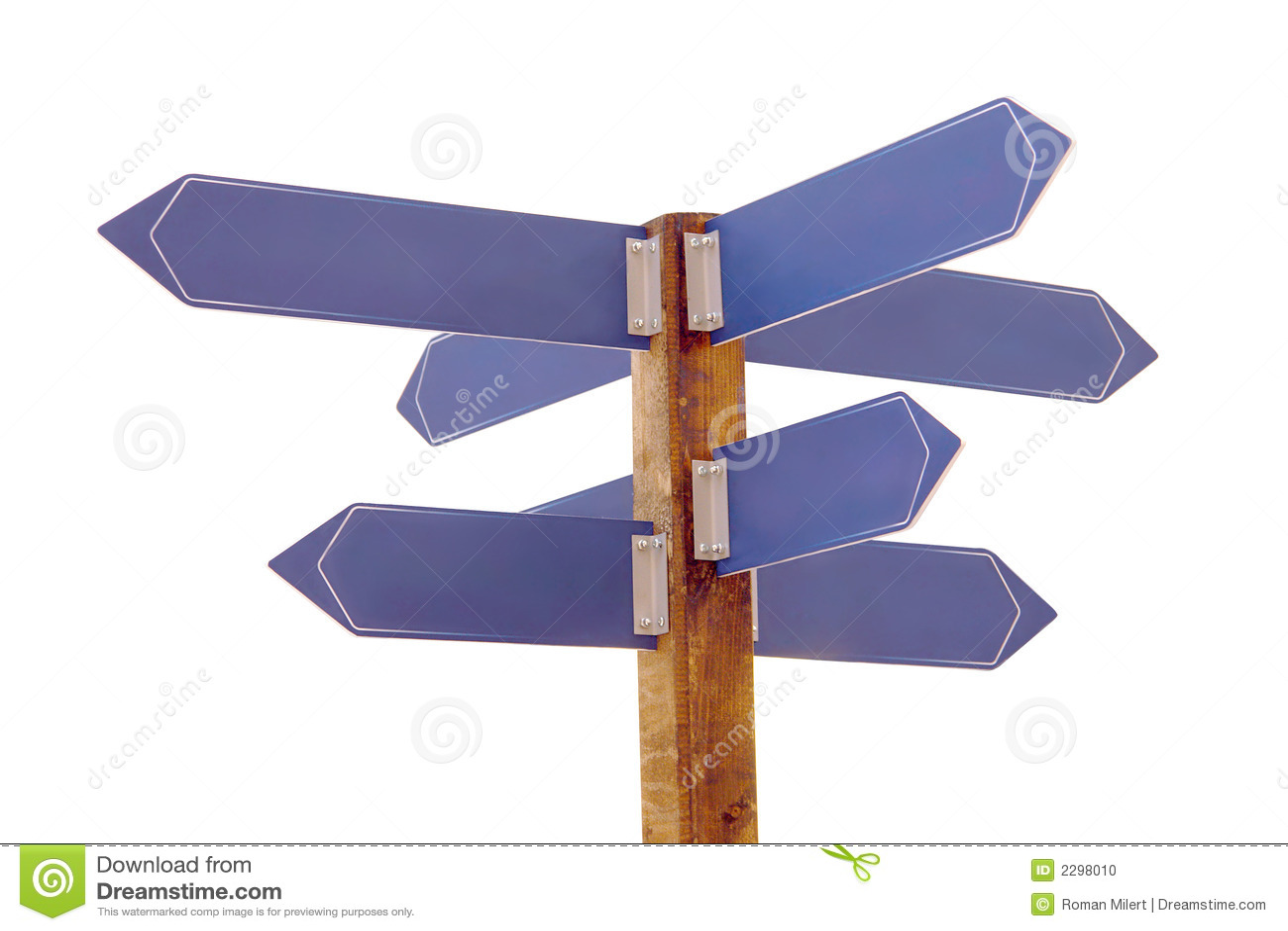 Multi signpost do sentido