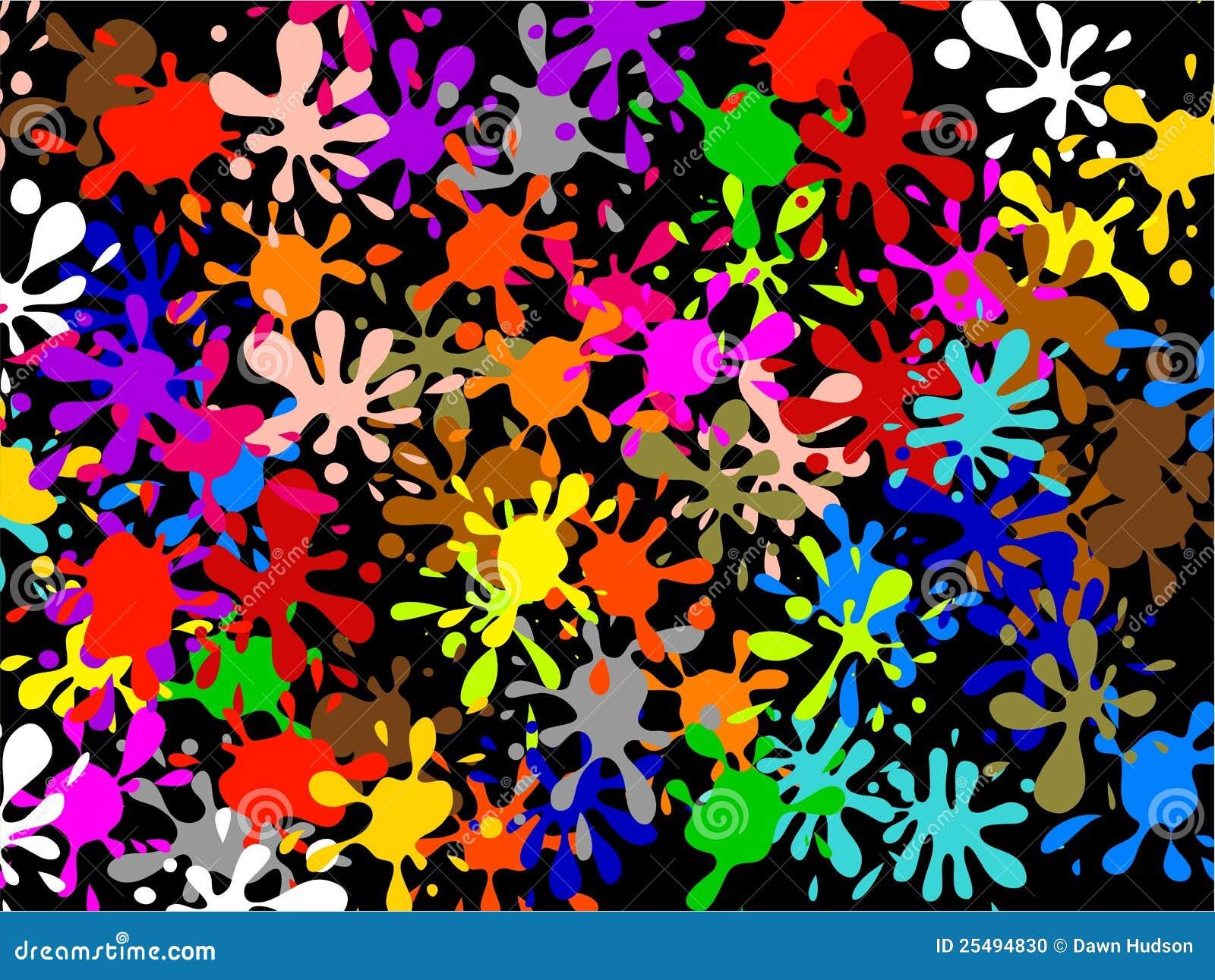 Multi Splatter Wallpaper Stock Illustration Of