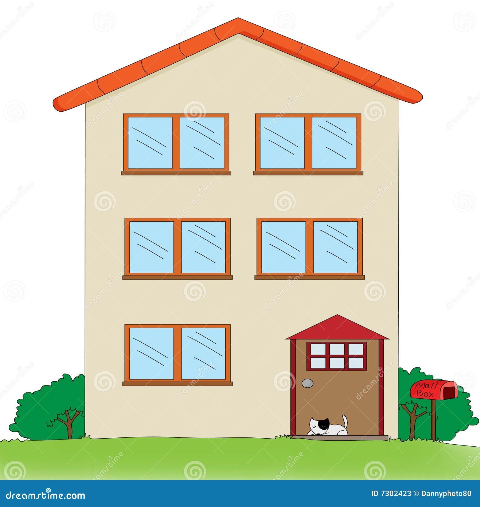 Multi storey house stock illustration illustration of for Art house building design